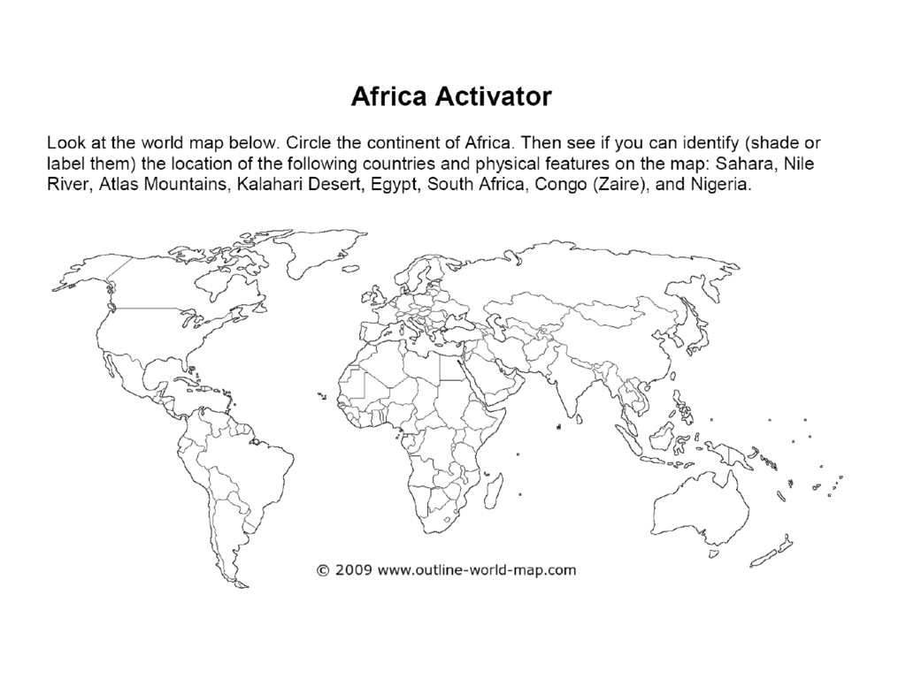 Africa Physical And Political Features Ppt