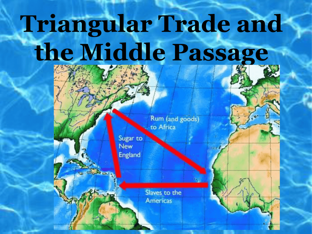 Online Map Around The World 29 The Triangular Trade Map