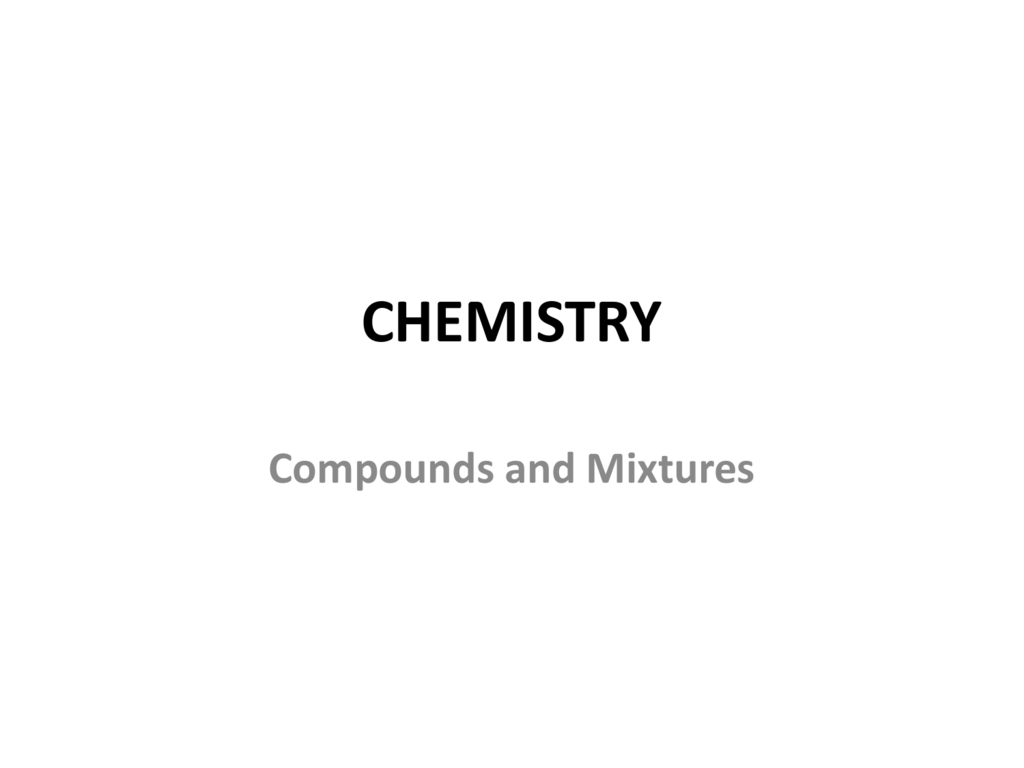 Elements Compounds And Mixtures Poem Worksheet Answers