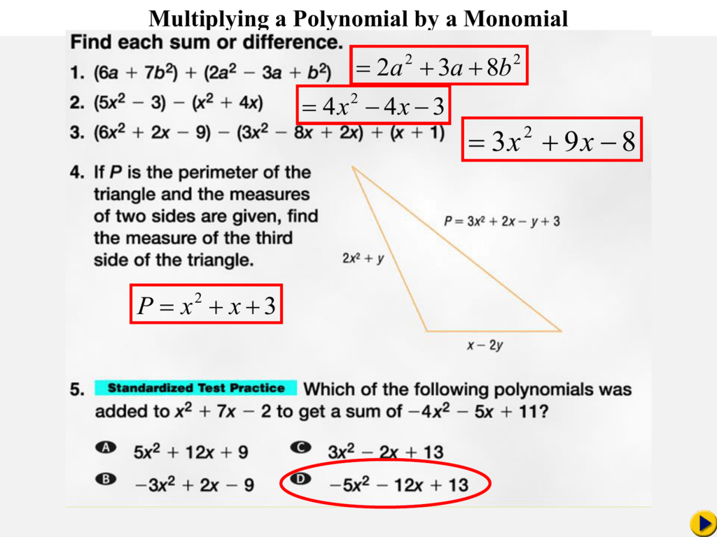 Chapter 8 6 Multiplying A Polynomial By A Monomial