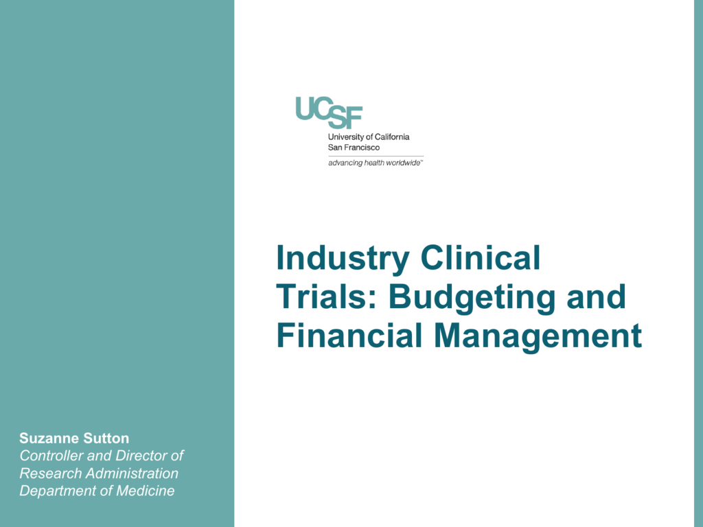 Industry Clinical Trials Budgeting And Financial