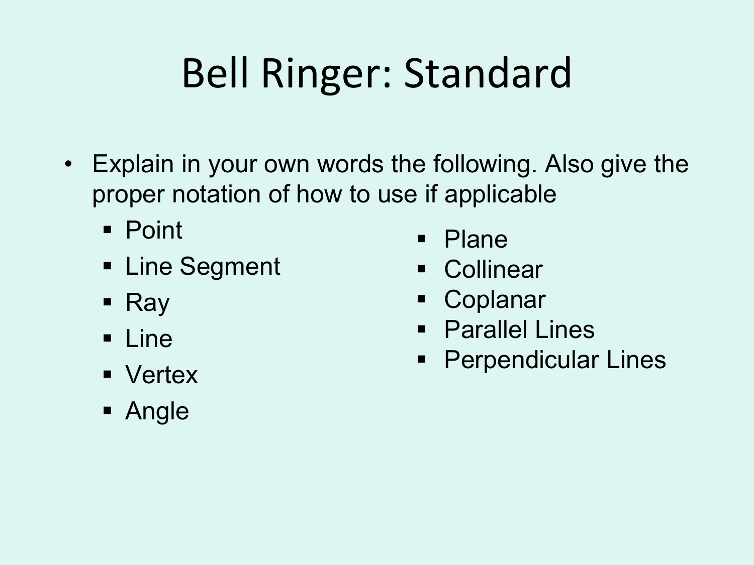 Coplanar Worksheet Parallel And Perpendicular