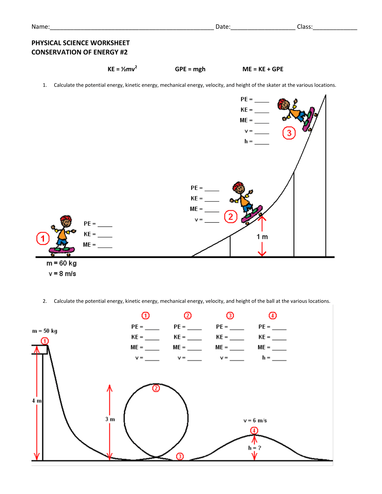 32 Potential Energy Diagram Worksheet Answers