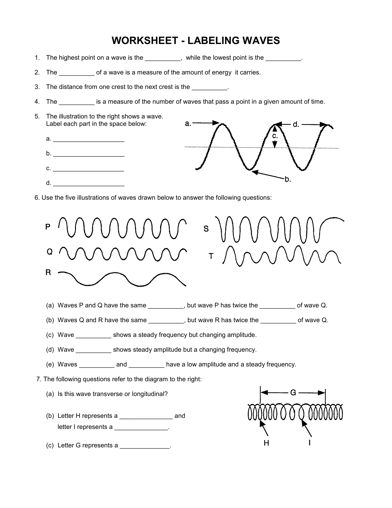Transverse V Longitudinal Wave Worksheet 2b107dk