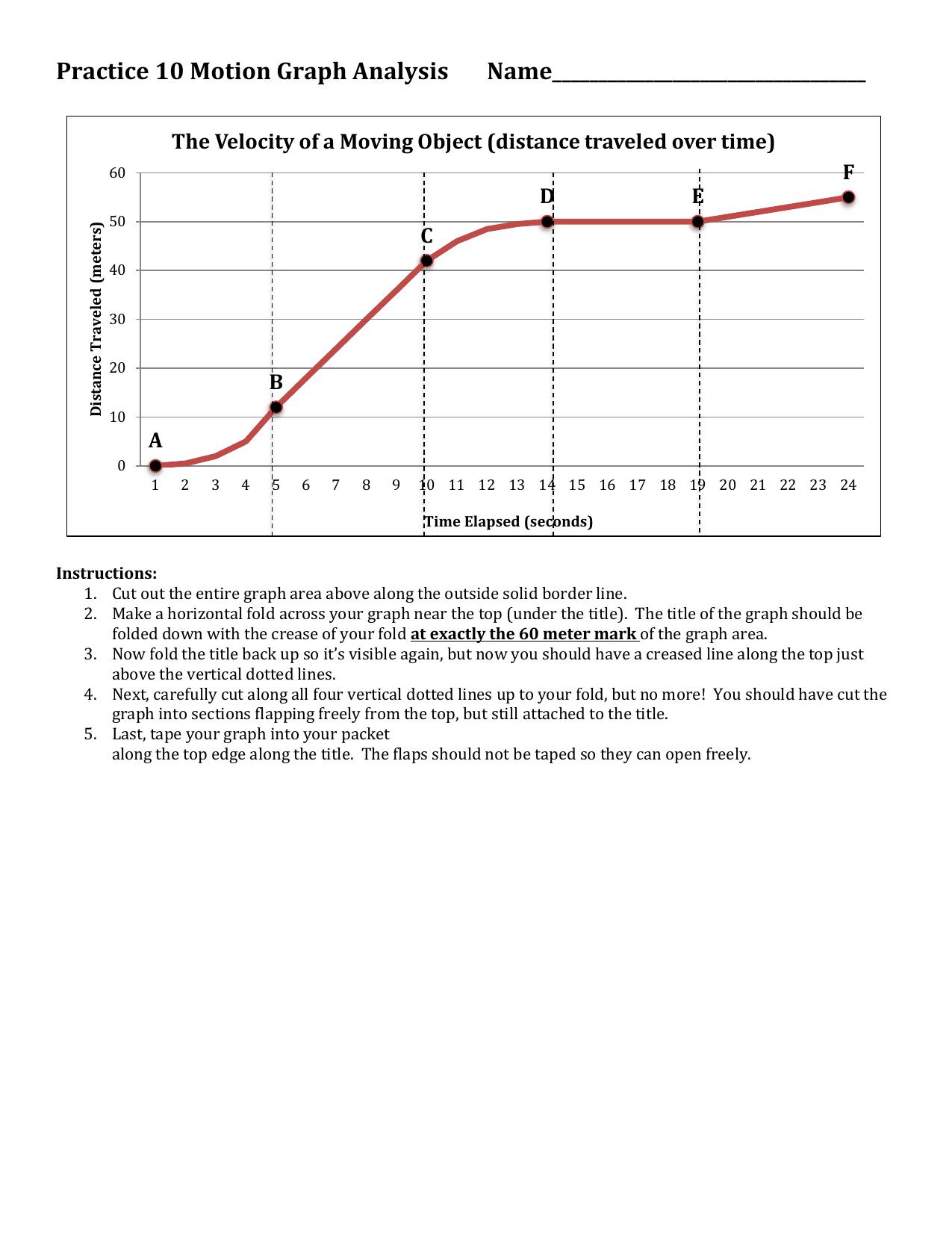 Motion Graphysis Worksheet