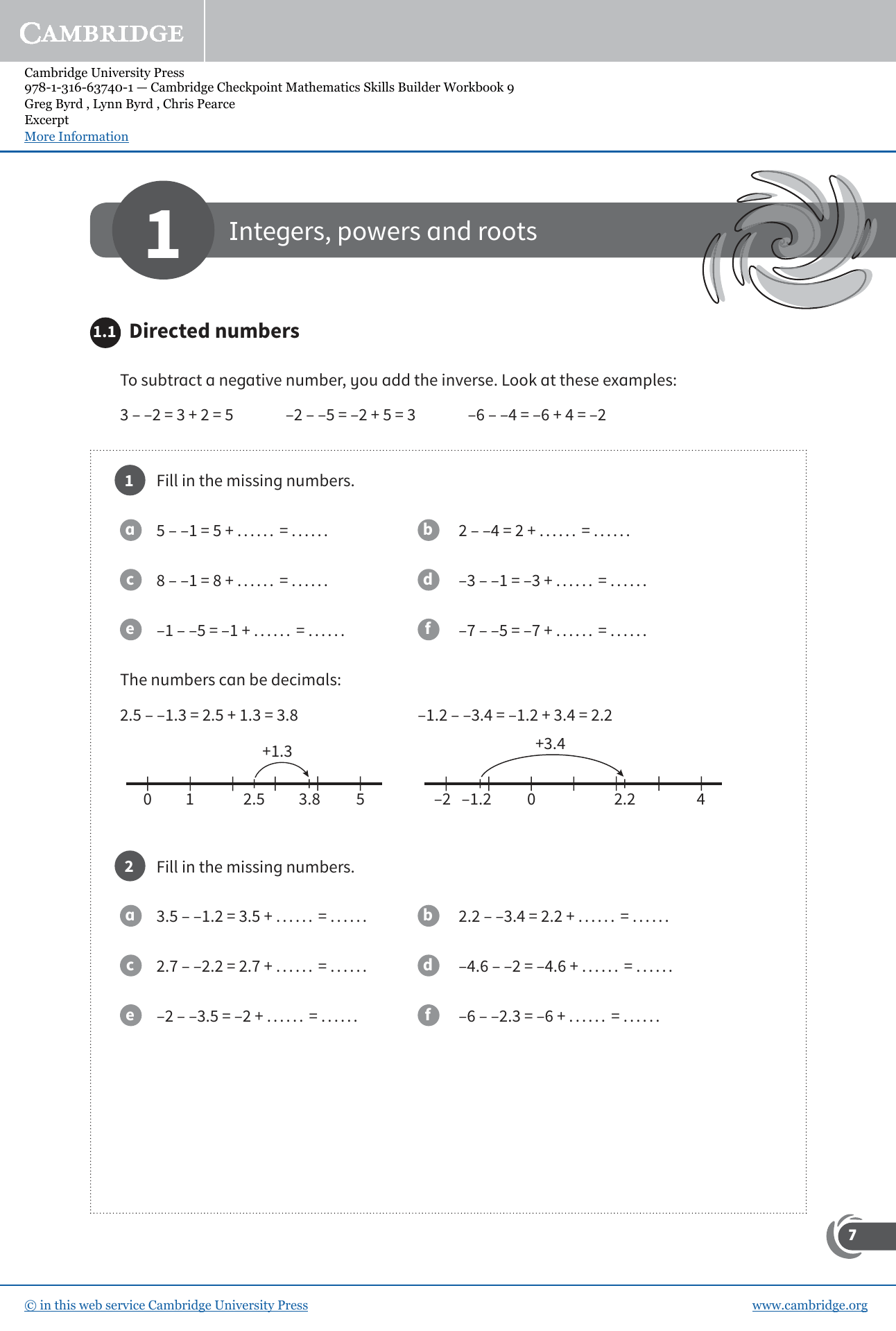 Integers Powers And Roots Worksheet