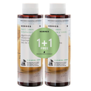 Korres 1+1 Shower Gel Basil Lemon 250ml x2
