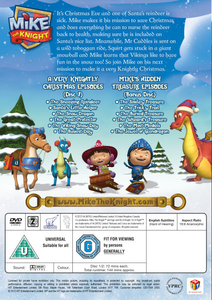 Mike The Knight A Very Knightly Christmas DVD