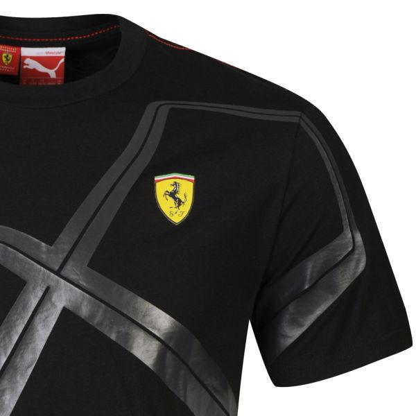 Puma Mens Ferrari Graphic T Shirt Black Clothing