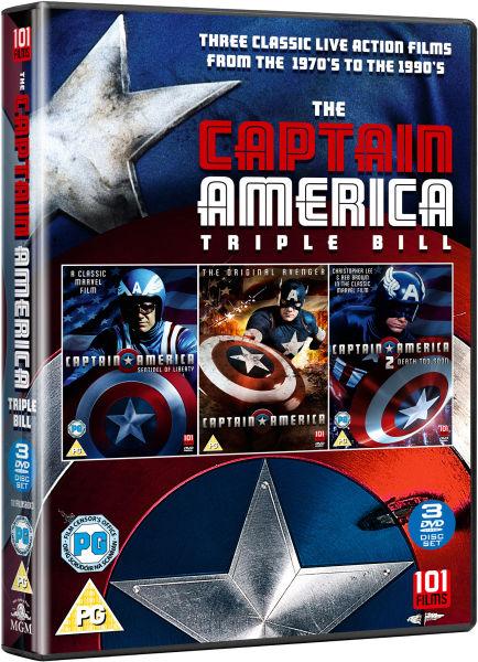 Captain America Triple Box Set DVD