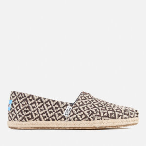 TOMS Women's Seasonal Classic Diamond Geo Slip On Pumps - Chocolate Brown