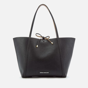 Armani Exchange Women's Leather Reversible Tote Bag - Black/Camel