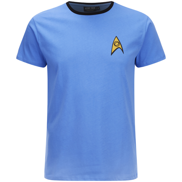 Star Trek Mens Science Uniform T Shirt Blue IWOOT
