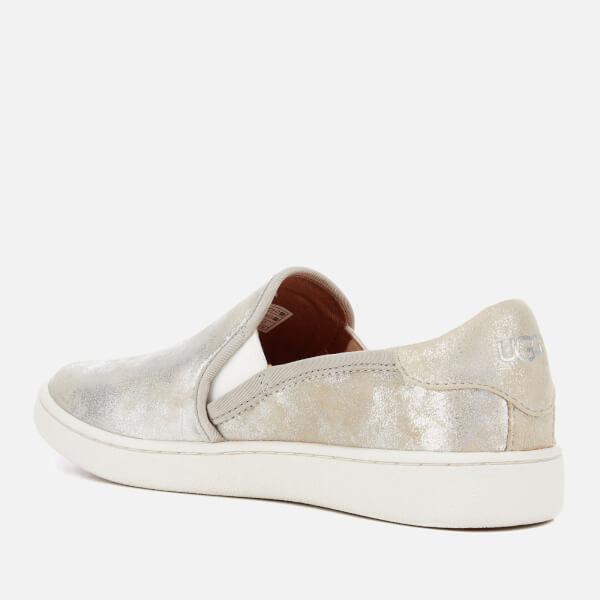UGG Women's Cas Stardust Metallic Suede Slip-On Trainers - Silver: Image 31