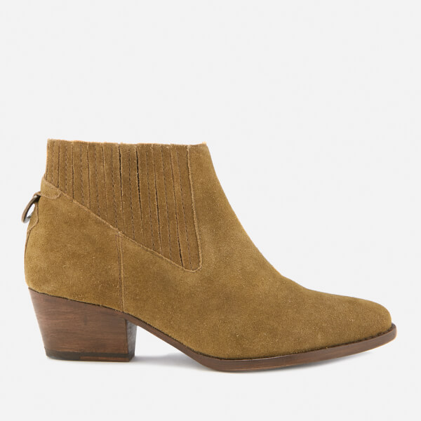 Hudson London Women's Ernest Suede Heeled Ankle Boots - Tan
