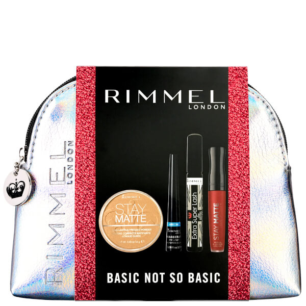 Rimmel Basic Not So Basic - Stay Matte Powder, Stay Matte LL, Mascara, Eyeliner (Worth £20)