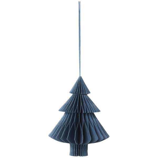 Broste Copenhagen Paper Christmas Decoration - Orion Blue - Tree
