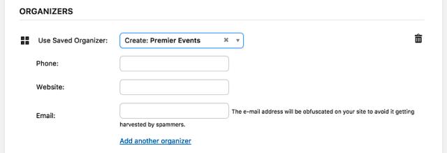 KB - new event organizer