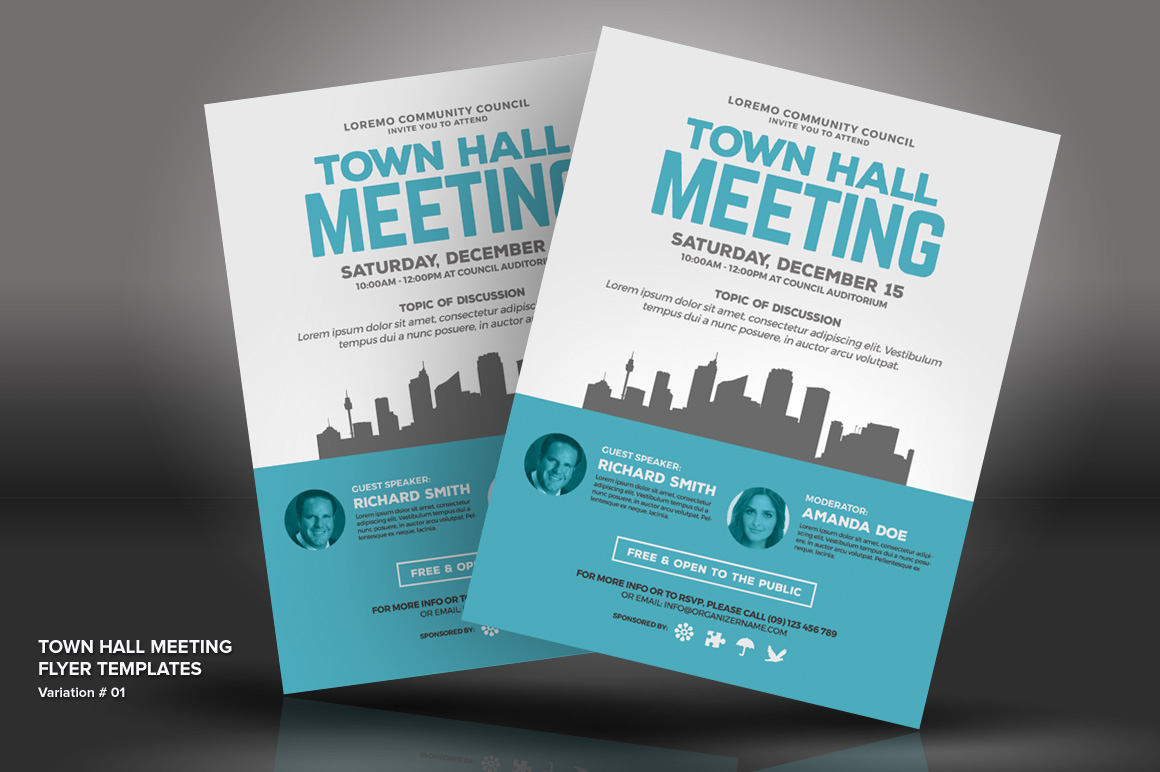 Town Hall Meeting Flyer Psd Template