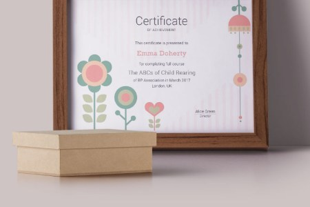 Kids   Flowers Certificate Template  66218 Kids   Flowers Certificate Template