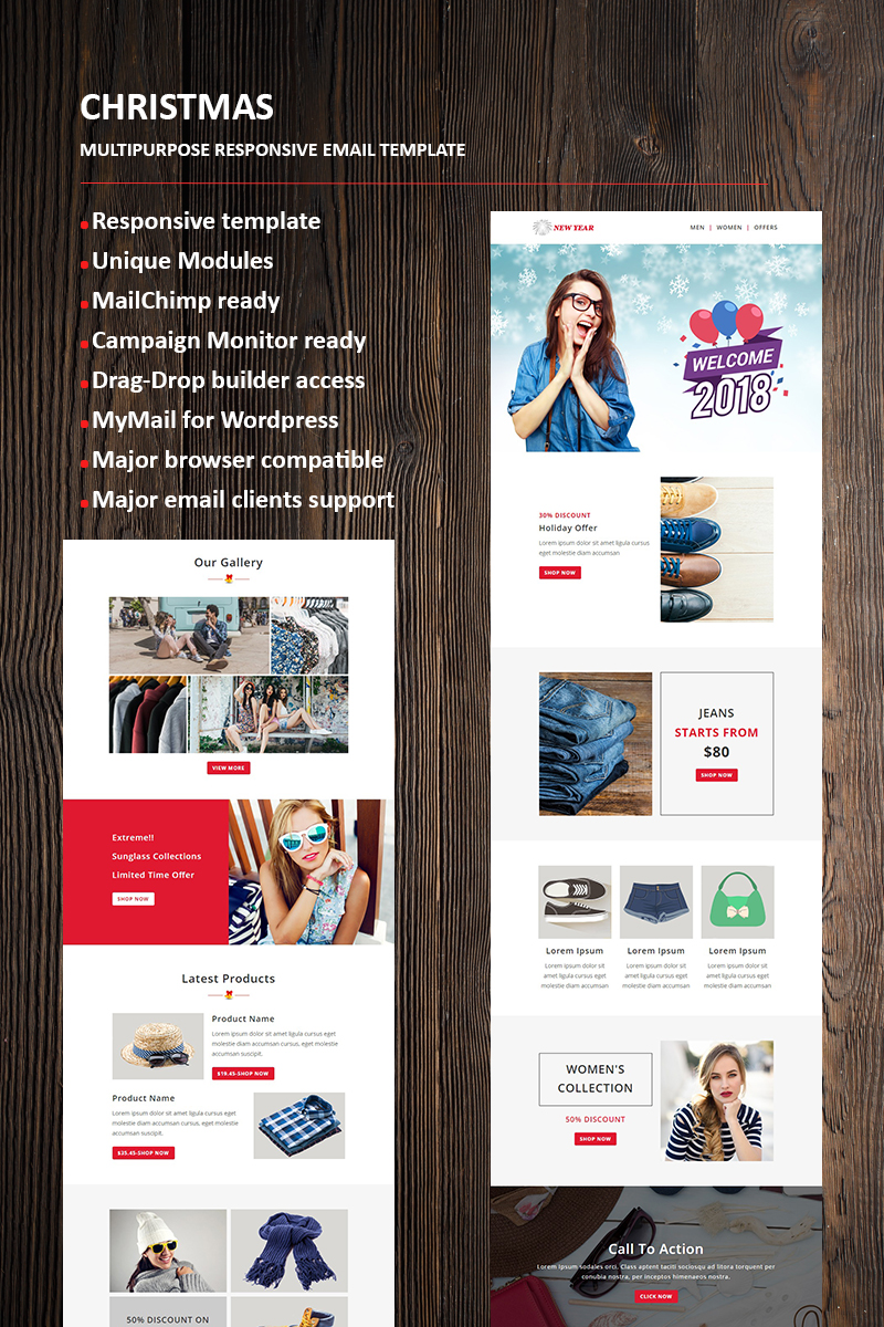New Year Email Newsletter Template  66336 New Year Email Newsletter Template Big Screenshot