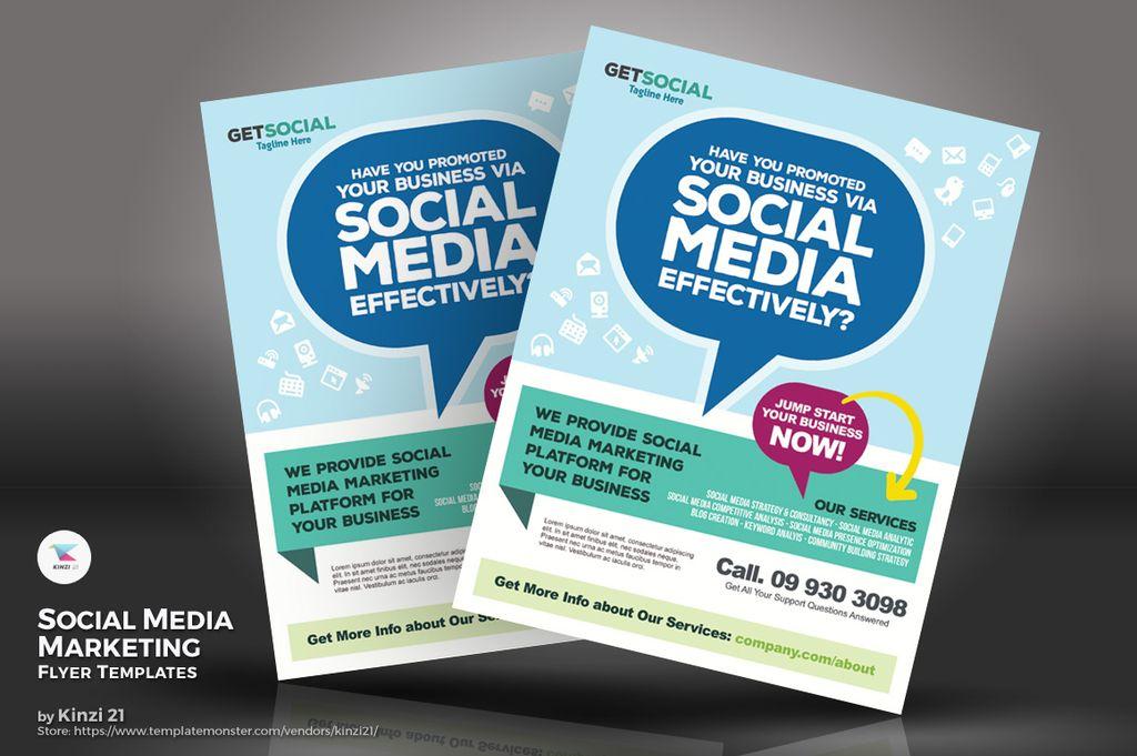 Social Media Marketing Flyers Psd Template