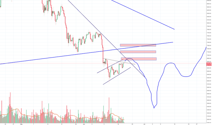 BTCUSD: Another crazy Bitcoin idea, preparing for the V shape low