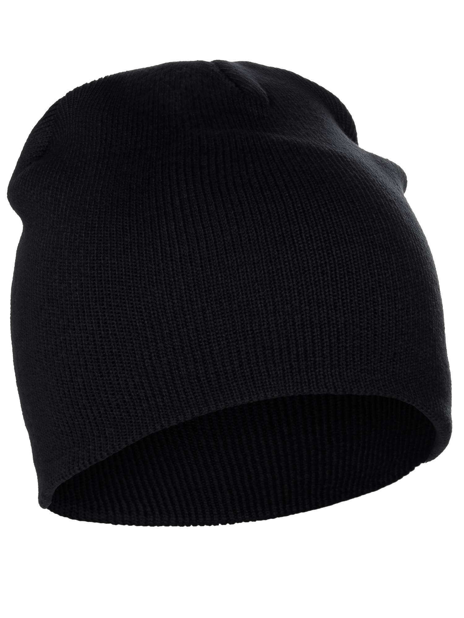 8e44f95adfcb9b Classic Pain Cuffless Beanie Winter Knit Hat Skully Cap Unisex