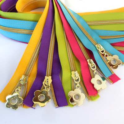 Spring Zipper Kit – Gold Coil