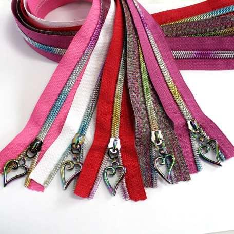 xoxo zipper kit - rainbow