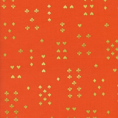 Wonderland - Follow Suit - Orange Metallic Fabric