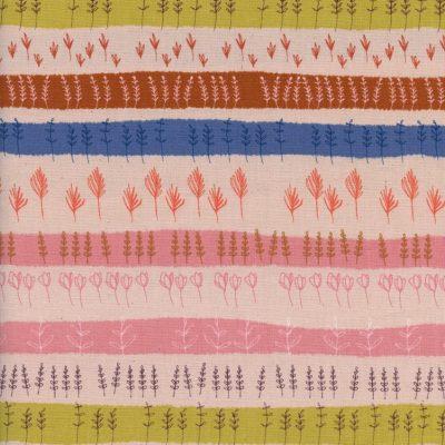 Firelight - Herb Garden - Peach Unbleached Cotton Fabric