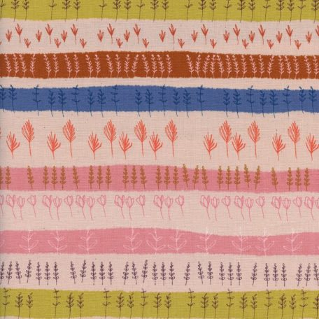 Firelight - Herb Garden - Peach Unbleached Cotton Fabric
