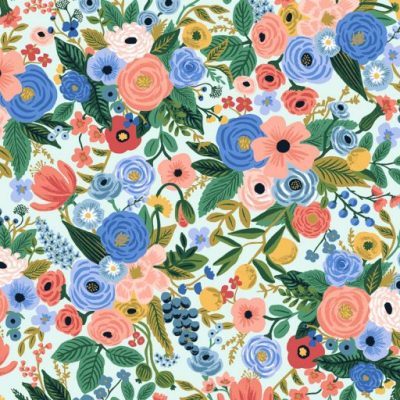 Wildwood – Petite Garden Party – Blue Fabric