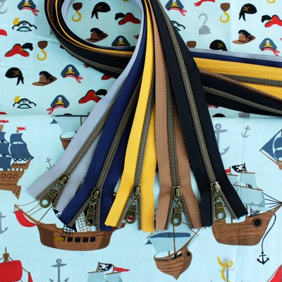 Pirate Tales Fabric & Zippers Bundle