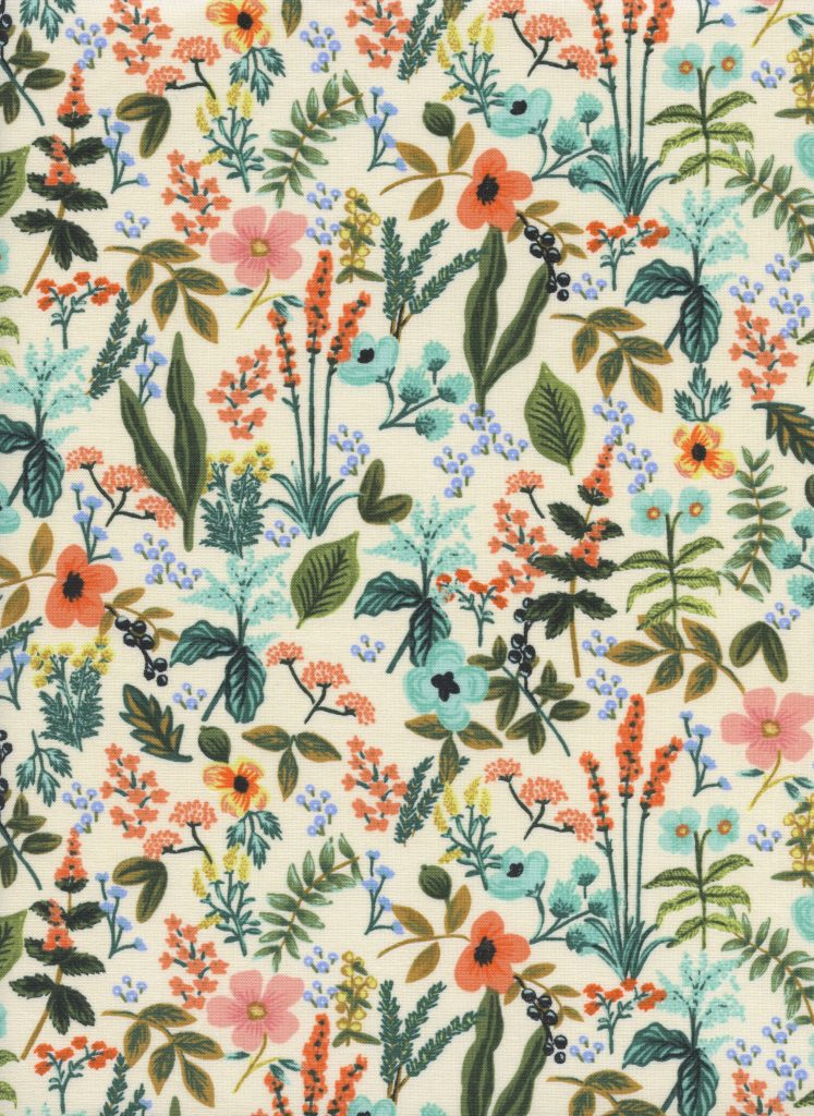 Amalfi - Herb Garden - Natural Unbleached Cotton Fabric