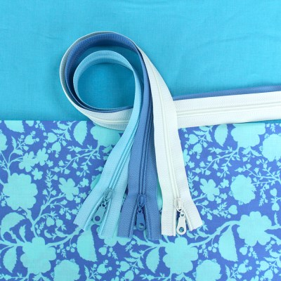 Wildflower Fabric & Zipper Bundle - blue