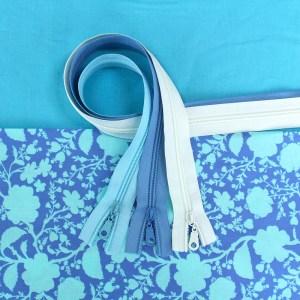 Wildflower Fabric & Zipper Bundle - blue