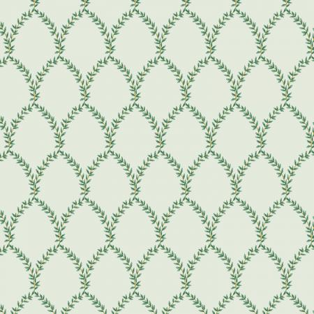 Strawberry Fields - Laurel - Mint Fabric