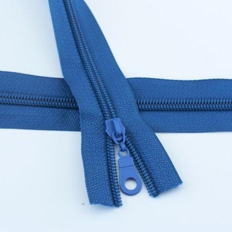#5 Sapphire Blue Zipper with Regular Coil
