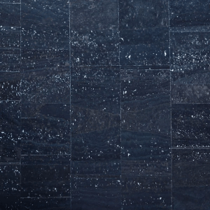 Cork Fabric Navy Blue with Silver