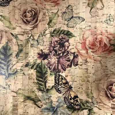 Cork Fabric – Roses Garden