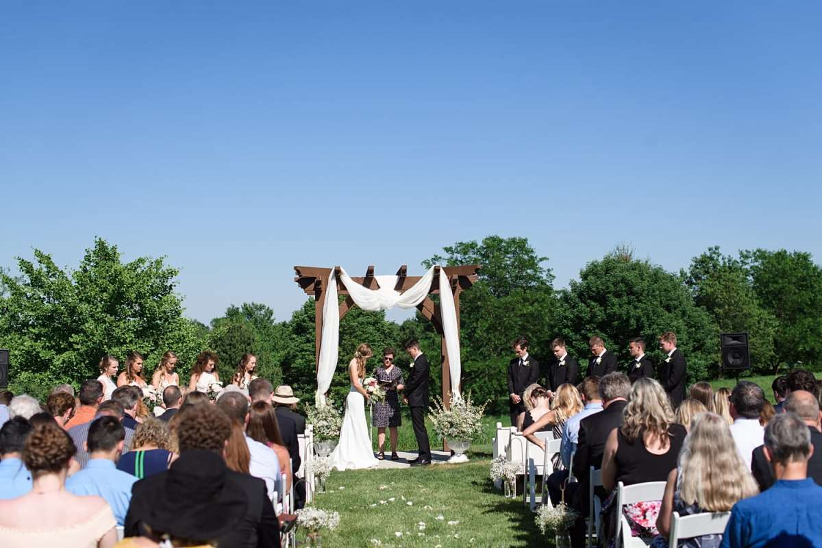 sugar grove vineyards wedding ceremony