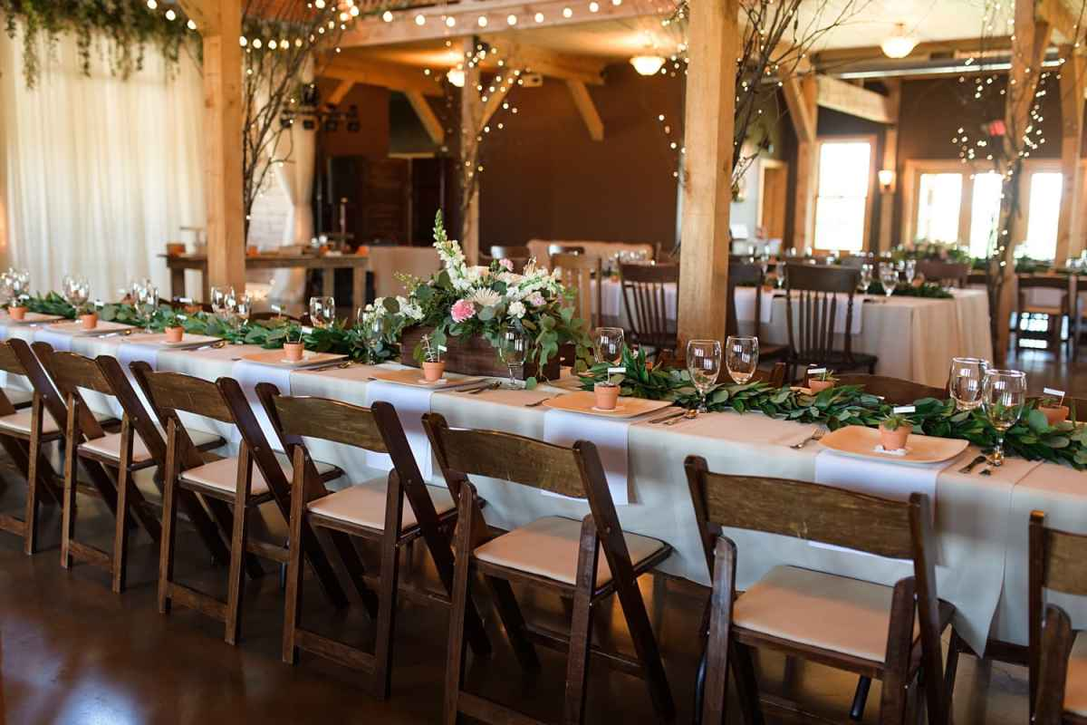 sugar grove vineyard wedding reception barn