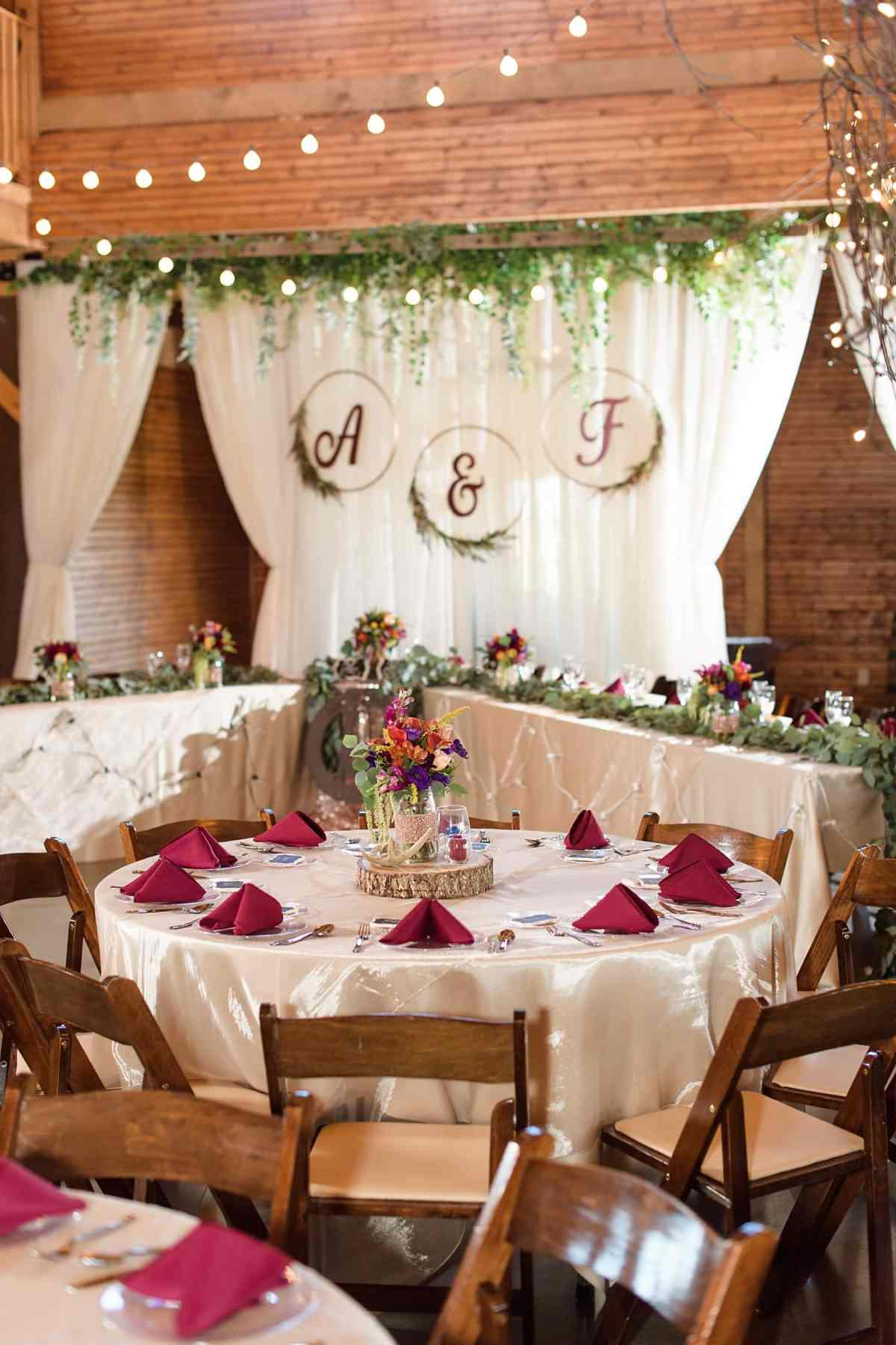 sugar grove vineyard and gathering place wedding reception