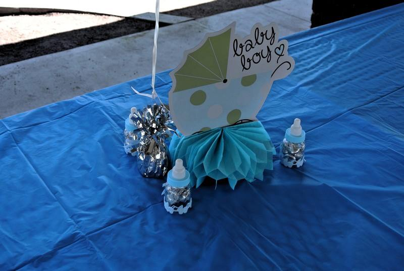 baby shower, presents, pregnant, pregnancy, first time, party, park, baby, centerpieces, gifts, experience, first time mom, baby shower decor, baby boy, blue decor, outdoor party, public party