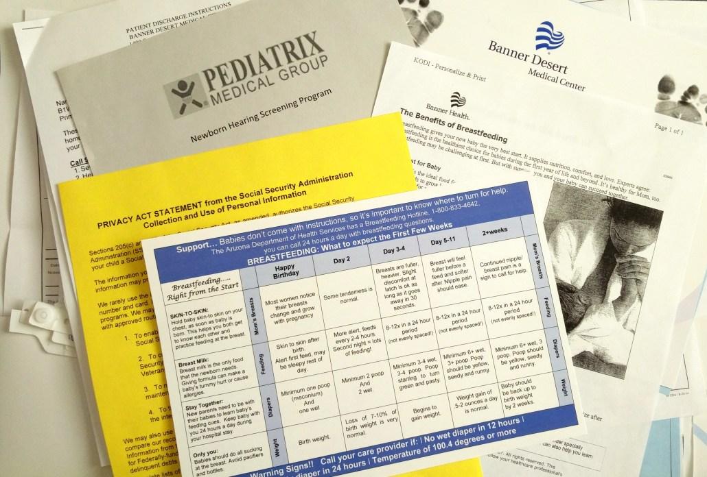Discharge paperwork