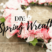 DIY, Spring, Wreath, do it yourself, lifestyle, season, crafty, dollar store, dollar tree, michaels, wreath loop, flowers, carnations, peonies, baby's breath, easy, cheap, frugal, instructions, breeze, weather, warm, south east, sc, door wreath, wire wreath, bouquets, step by step, momblogger, momlife, motherhood, little conquest