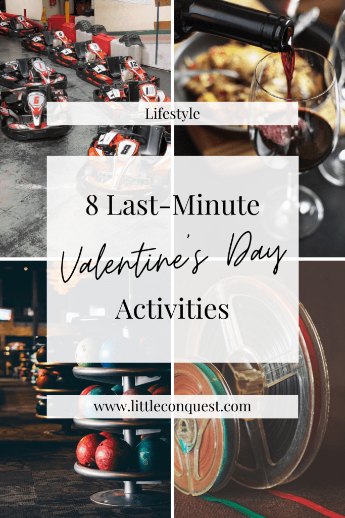 lifestyle, holiday, valentines day, things to do, activities, last minute ideas for valentines day, things to do as a couple, things to do as a family, things to do for adults, valentines day activities, fun activities, fun things to do on valentine's day, activity ideas, ideas for valentines day, bowling, wine and paint, movies, go cart, dinner, escape room, axe throwing, ax throwing, gun range,