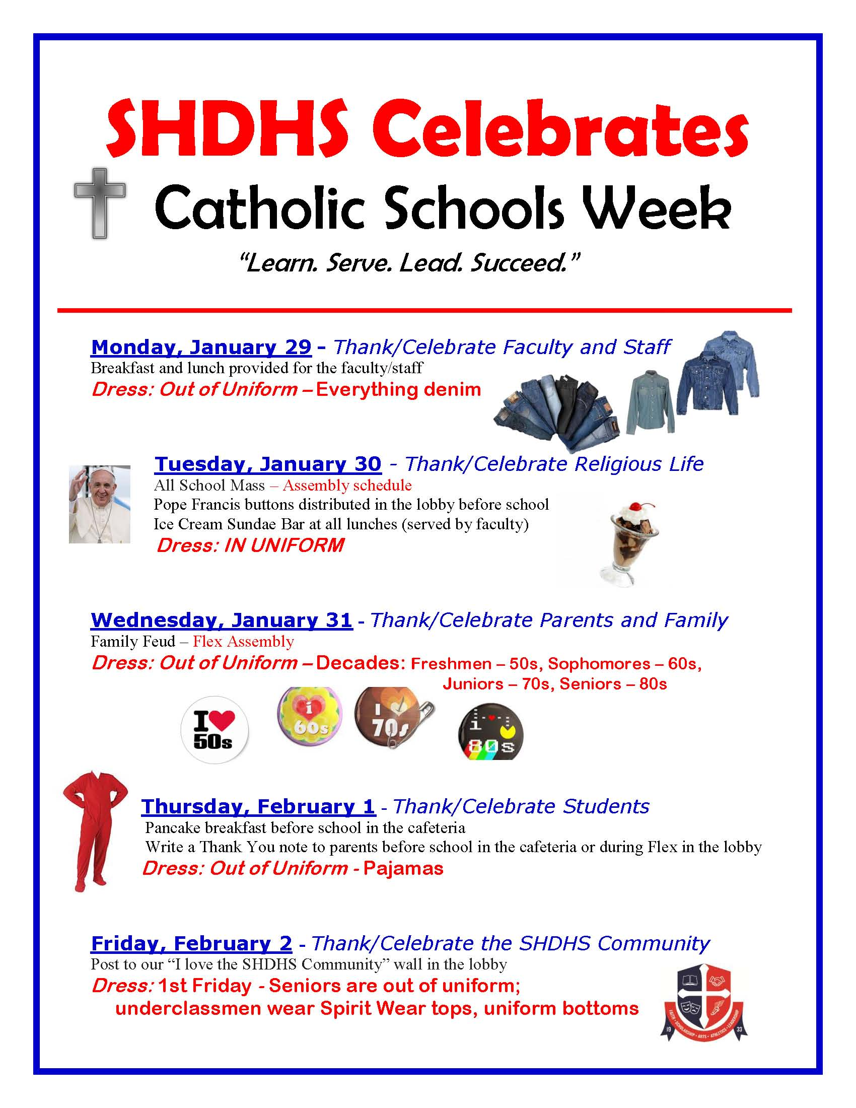 Catholic Schools Week Agenda